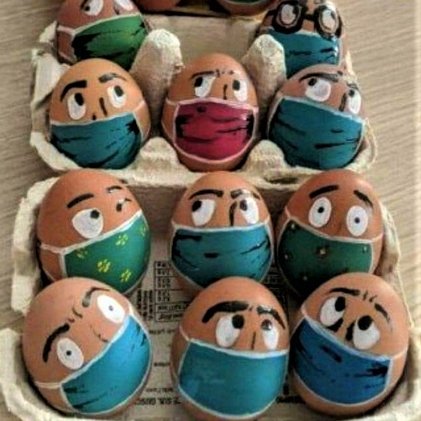 Eggs for this year's Nowruz haft-seen spread and for Easter