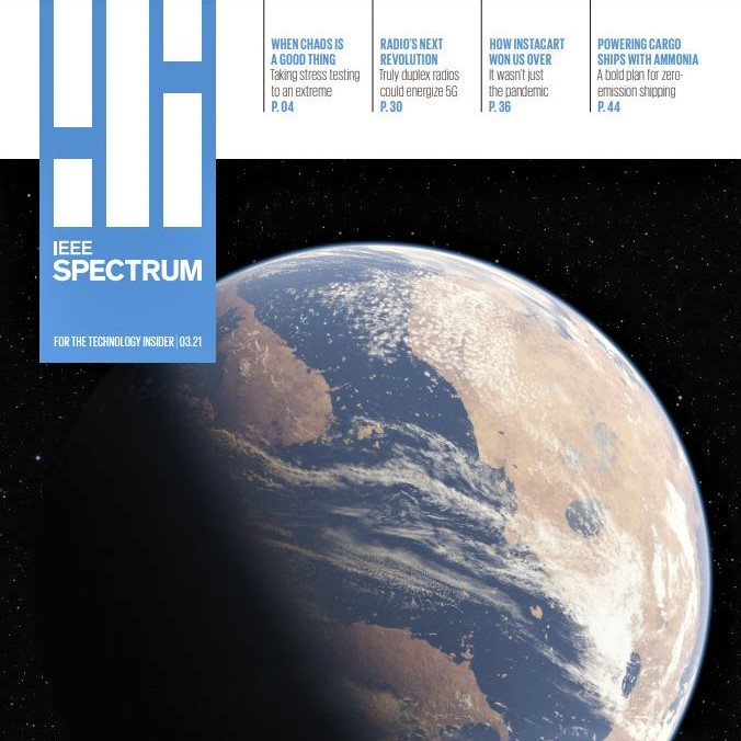 Cover image of IEEE Spectrum magazine, issue of March 2021