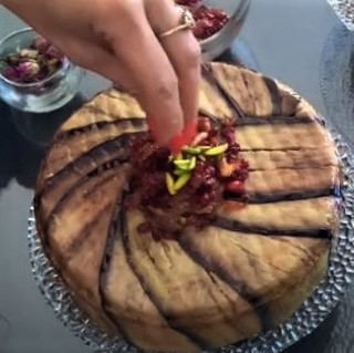 Persian cuisine: Inside-out eggplant tah-chin