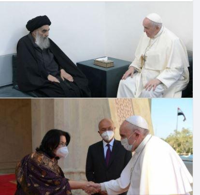 Pope Francis meets with Ayatollah Sistani and various Iraqi officials