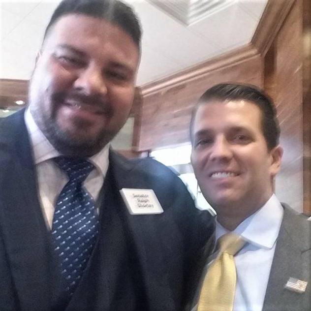 Oklahoma Trump campaign leader, Ralph Shortey, sentenced to 15 years in prison for child-sex trafficking, shown with his pal, Don Jr.