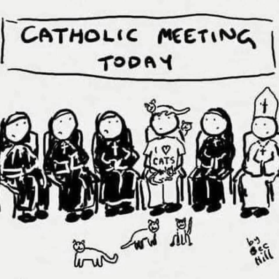 Cartoon: It was Catholic, not cat-holic!