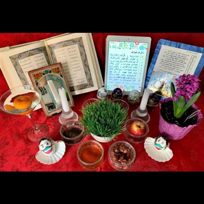 My Nowruz/Norooz haft-seen spread: Day view