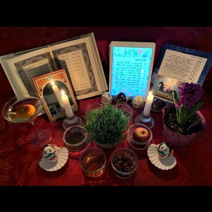 My Nowruz/Norooz haft-seen spread: night view