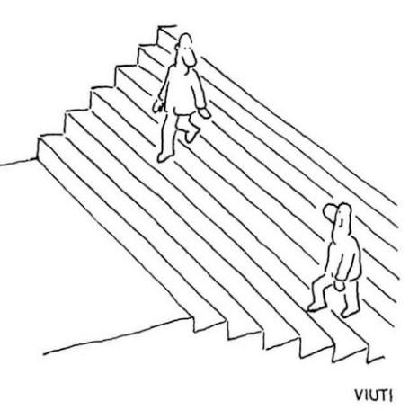Cartoon: Escher is befuddled!