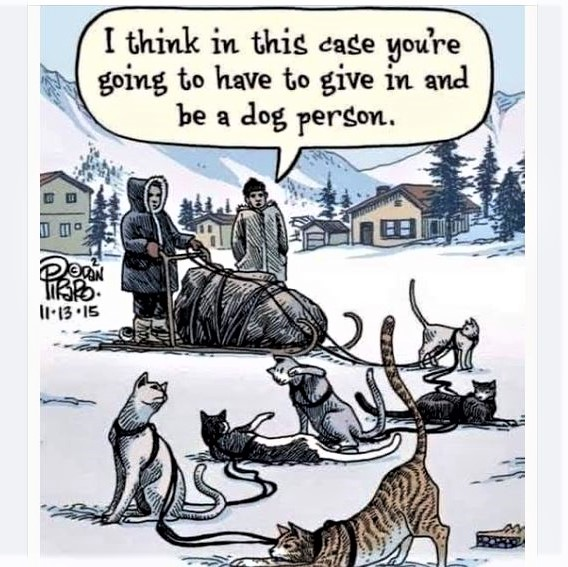 Cartoon: Sometimes you have no choice but to be a dog person!