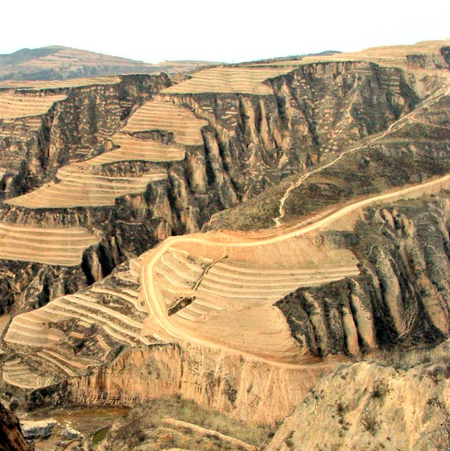 Transformation of the Loess Plateau in China: Before, arid, 2007