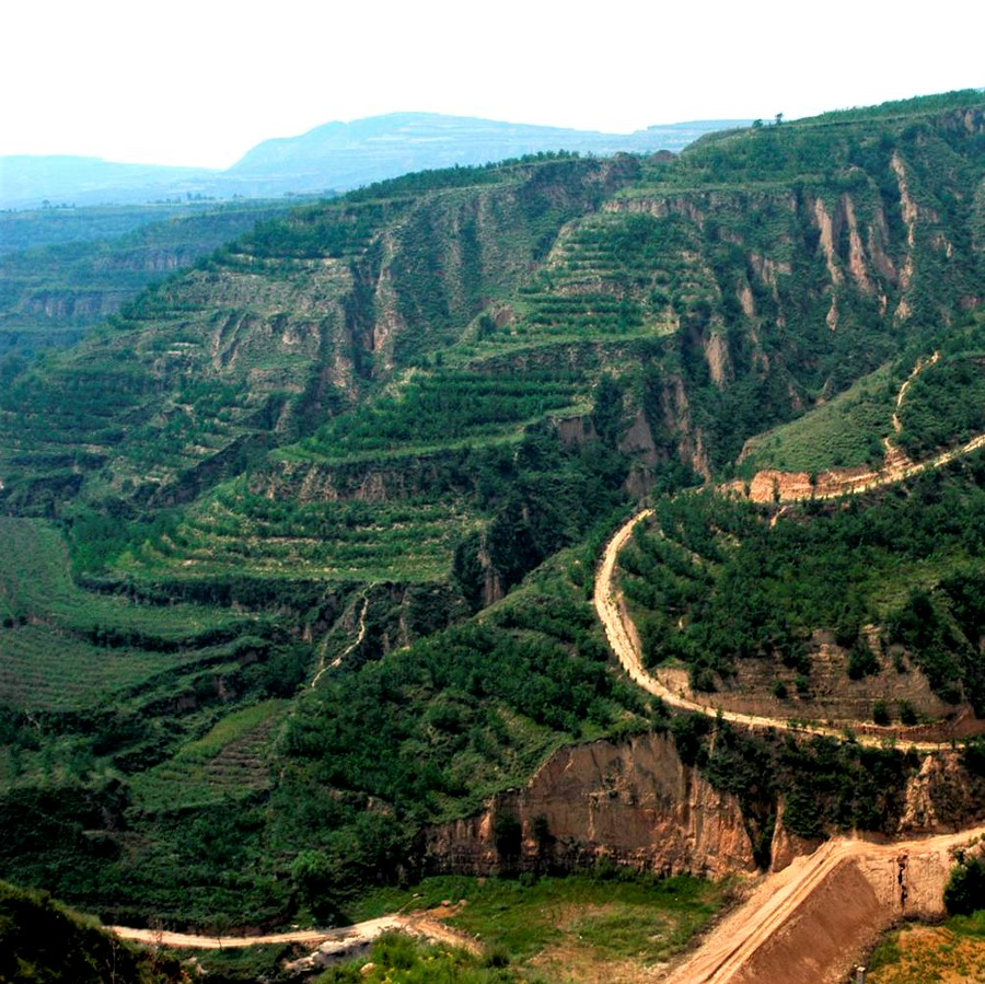 Transformation of the Loess Plateau in China: After, lush, 2019