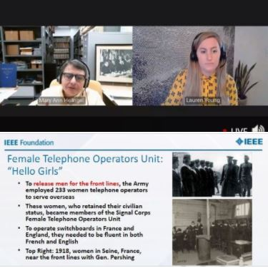 IEEE History Center webinar: The Telephone Ladies and Bell Systems Spirit of Service During World II
