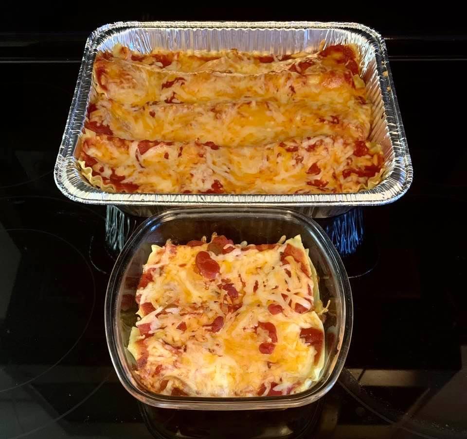 Lasagnas from my food prep night on Tuesday