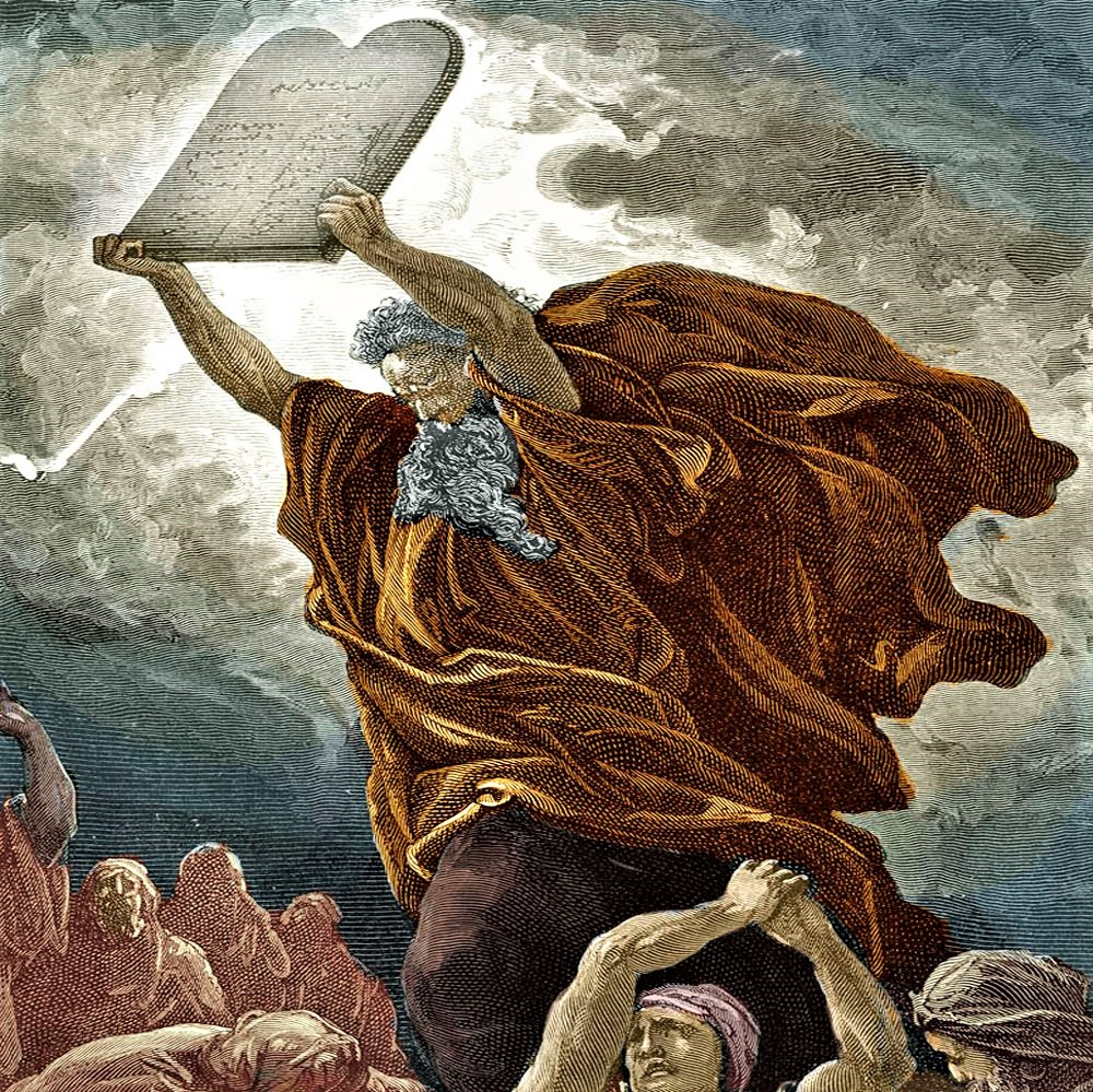 Happy Passover: Moses with tablets