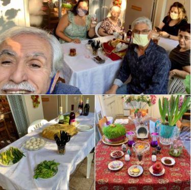 Last night's Passover celebration with a small family gathering at my mom's: Seder
