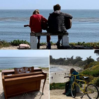 Photos I took during my afternoon walk atop the bluffs at UCSB's West Campus Beach: Music's in the air