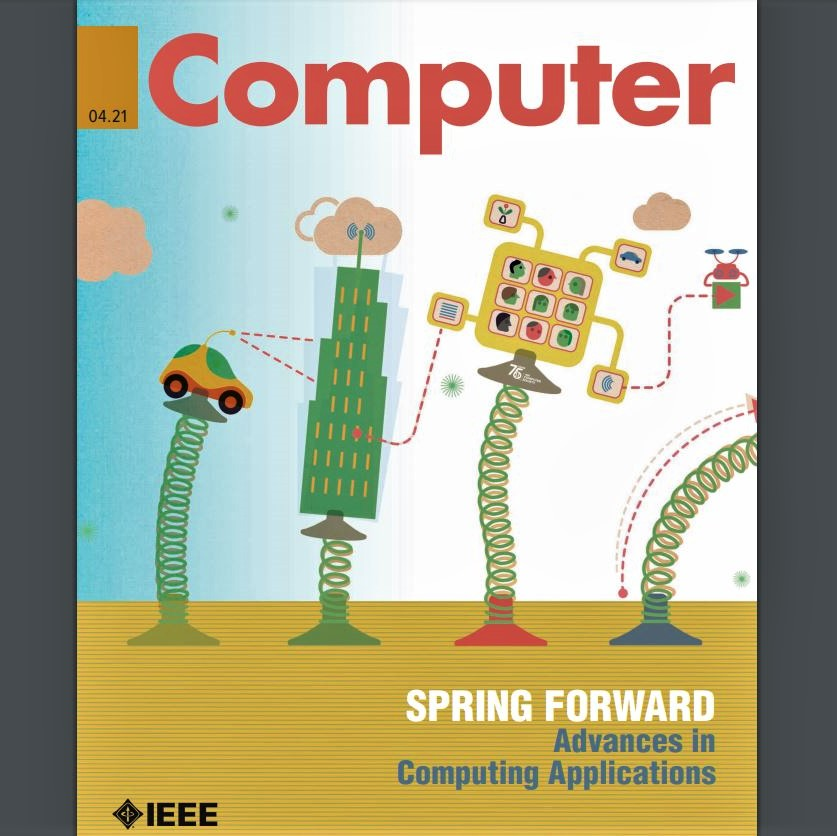 Cover image for 'IEEE Computer' magazine, issue of April 2021