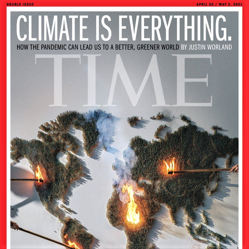 Time magazine cover: The pandemic may have made the climate-change problem a little bit less daunting