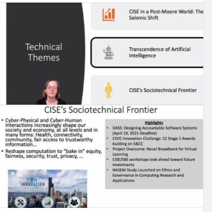 Today's Distinguished Lecture by NSF CISE Director Margaret Martonosi