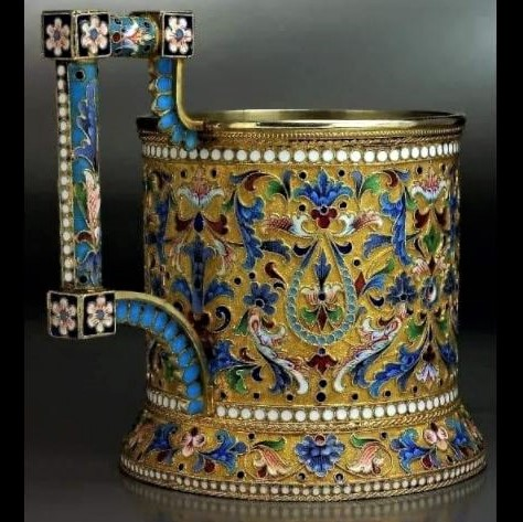 Ancient wonders of archaeology, art history & architecture: Tea glass holder, from 1890