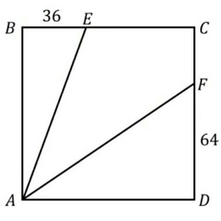 Puzzle involving a square, a couple of known lengths, and a bisected angle