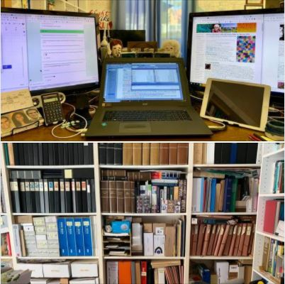 My workstation & Zoom background at home