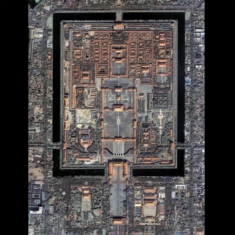 Beijing's Forbidden City, as seen from the air