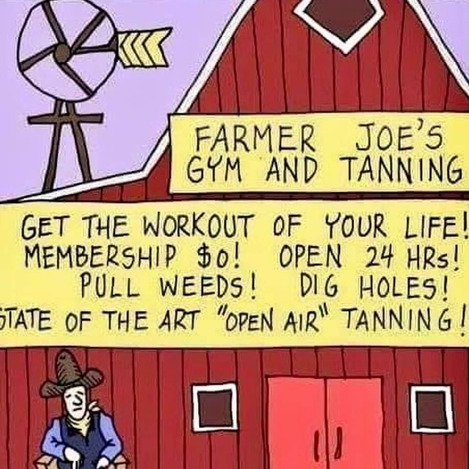 Meme: Natural exercise and tanning, at no cost, for anyone willing to move from his/her privileged position