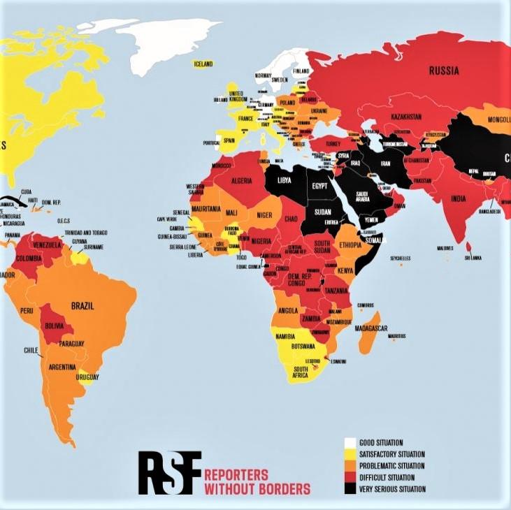 World Press Freedom Day: World map