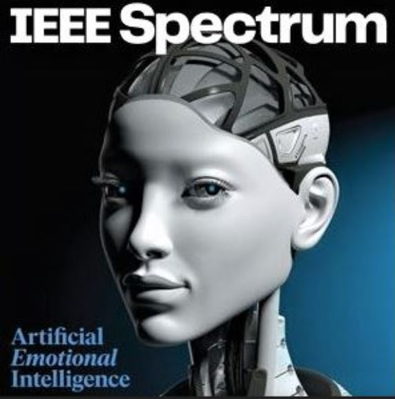 Cover image of IEEE Spectrum magazine for May 2021: Building an AI that Feels