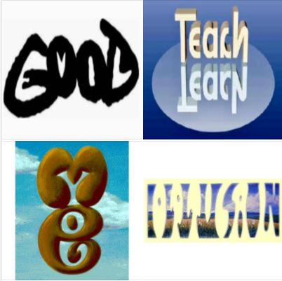 A few image reposts from prior years: Good & evil, teach & learn, me & you, optical illusion!