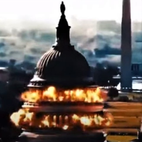 As Iran negotiates with the US in Europe, its state-TV broadcasts a video of a fake attack on the US Capitol