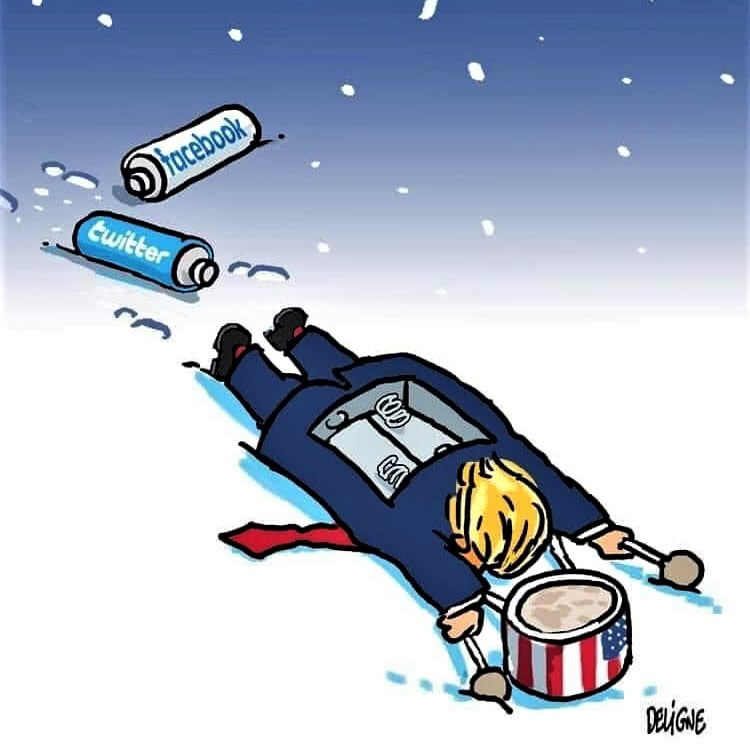 Cartoon: The little drummer boy, with his Energizer batteries taken out!