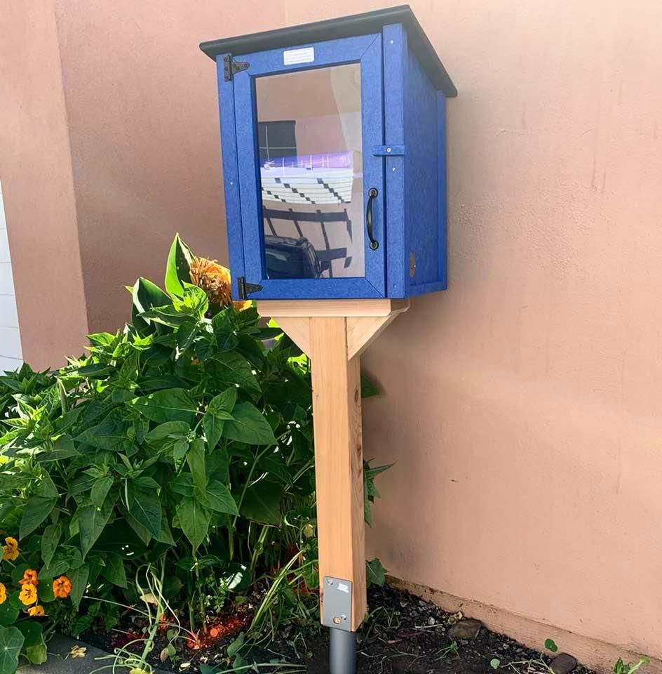 Our just-installed neighborhood mini-libarary