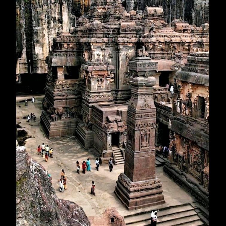 Kailasa temple in Maharashtra, India
