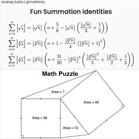 Fun summation identities and a geometric puzzle