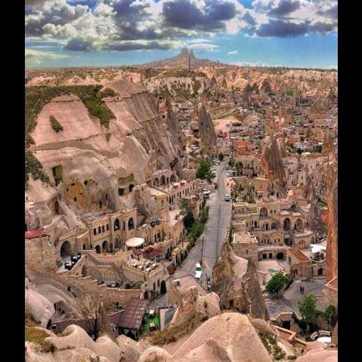 Turkey's history: The cave residences of Cappadocia, some of which have been turned into a cave hotel