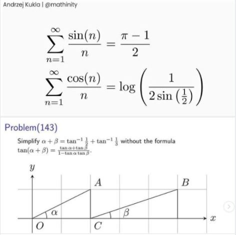 Two mind-blowing math identities and a math puzzle