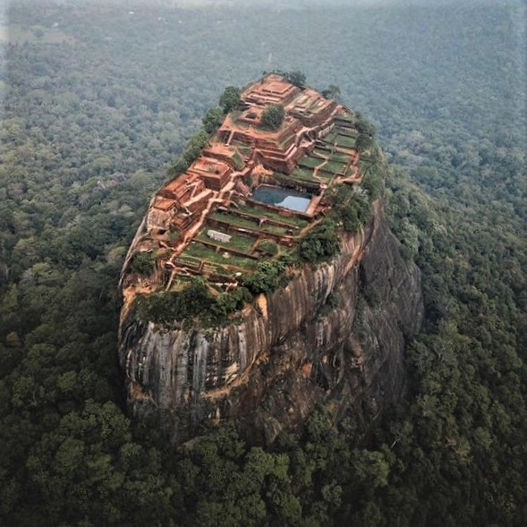 A historical monument in Sri Lanka: The Sigiriya fortress complex