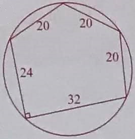 Math puzzle involving a pentagon with known side lengths