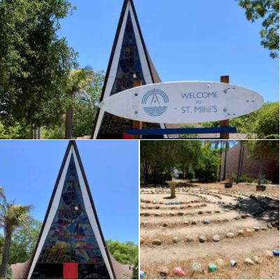 St. Michael's Church in the student town of Isla Vista, adjacent to UCSB, photographed on Friday, May 21, 2021