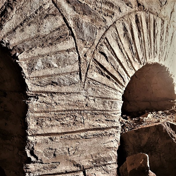 Colosseum-like 1800-year-old stadium, unearthed in western Turkey: Close-up of one section