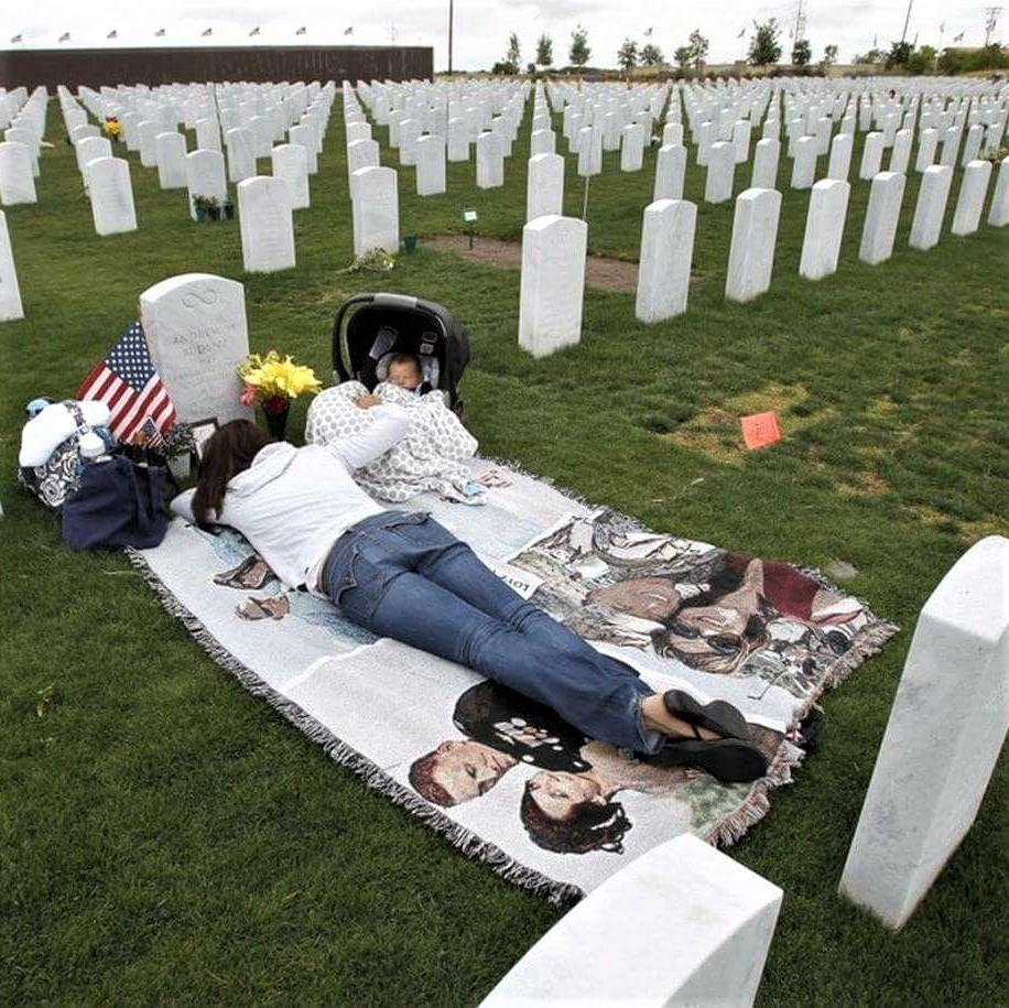 On this US Memorial Day, we honor the memory of those who fell to protect our freedom: Mourning spouse
