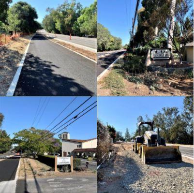 Walking along Santa Barbara's Modoc Road: A brand new bike path