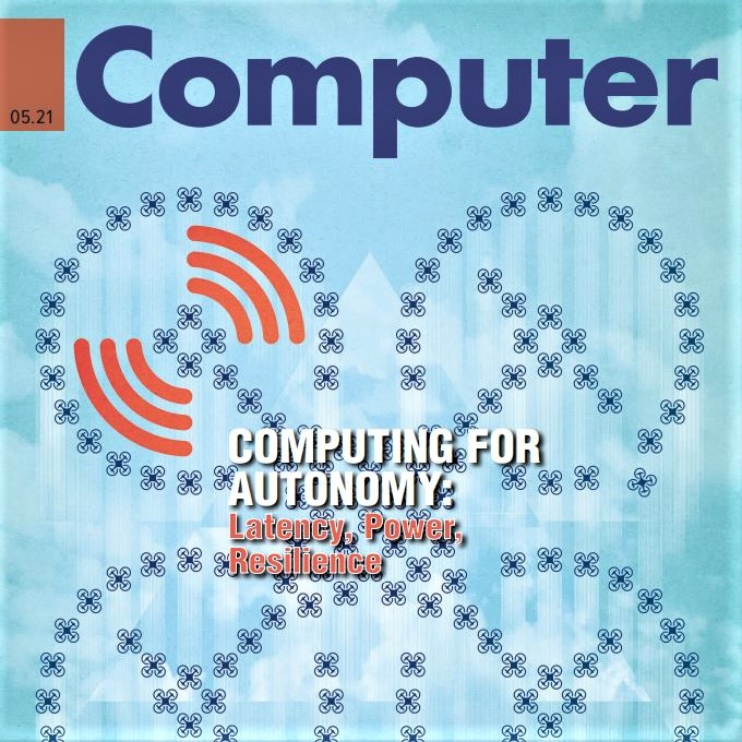 Cover image of IEEE Computer magazine's May 2021 issue (computing for autonomy)