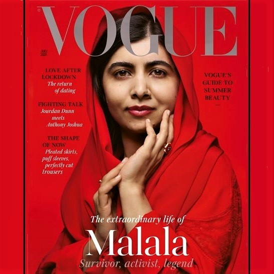 Kudos to Vogue for putting Malala, instead of the typical supermodel, on its cover!
