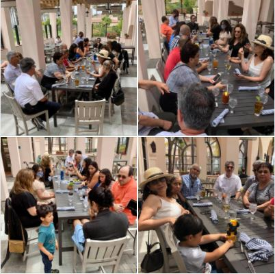 Today's family get-together for lunch at Santa Barbara Hilton